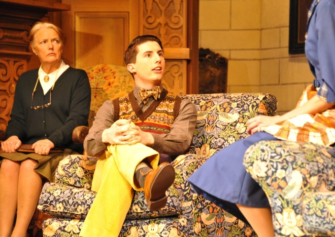 Louise James (Mrs Boyle) and Oliver Gully (Christopher Wren) in the 60th Anniversary Tour of Agatha Christie's The Mousetrap. Credit Liza Maria Dawson (3).jpg