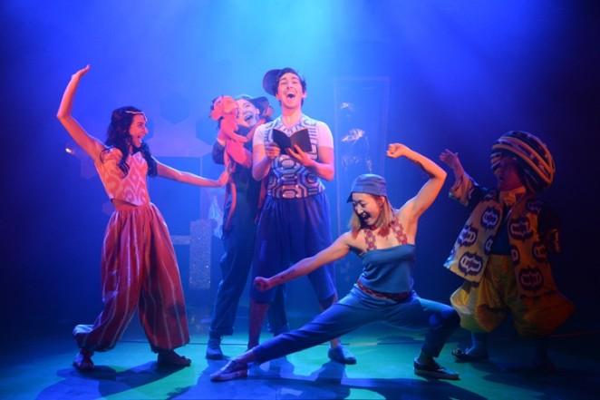 sinbad-the-sailor-at-theatre-royal-stratford-marianna-neofitou-princess-gemma-salter-funky-julian-capolei-sinbad-gabby-wong-sinbadda-and-ben-goffe-sultan-credit-sharron-wallace