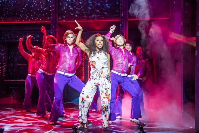 SISTER ACT. Alexanda Burke as 'Deloris Van Cartier' and Ensemble. Photo by Tristram Kenton.jpg